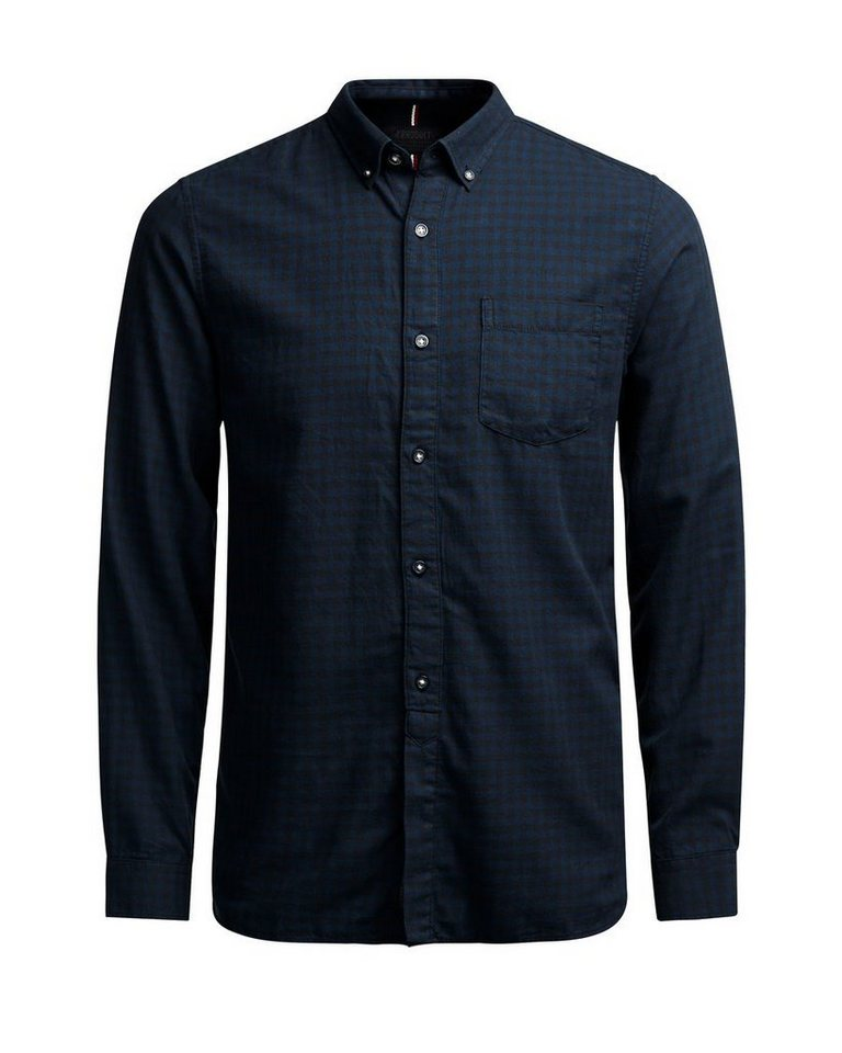 PRODUKT Kariertes Hemd in Navy Blazer