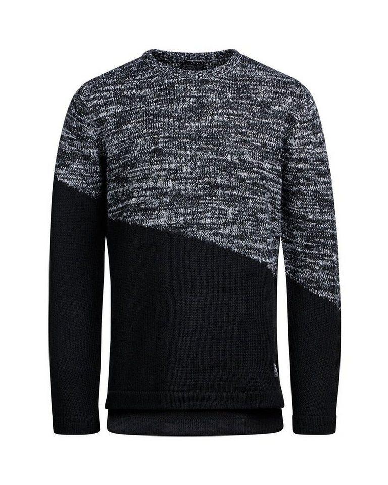 Jack & Jones Asymmetrischer Pullover in Black