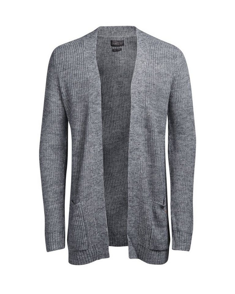 Jack & Jones Vielseitige Strickjacke in LIGHT GREY MELANGE