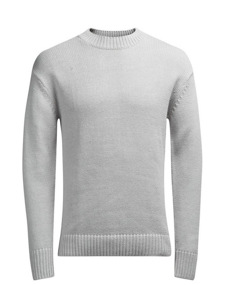 Jack & Jones Rundhalsausschnitt- Strickpullover in LIGHT GREY MELANGE