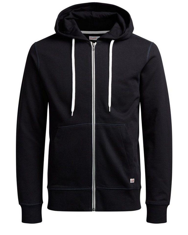 Jack & Jones Lässiges Sweatshirt mit Reißverschluss in Black