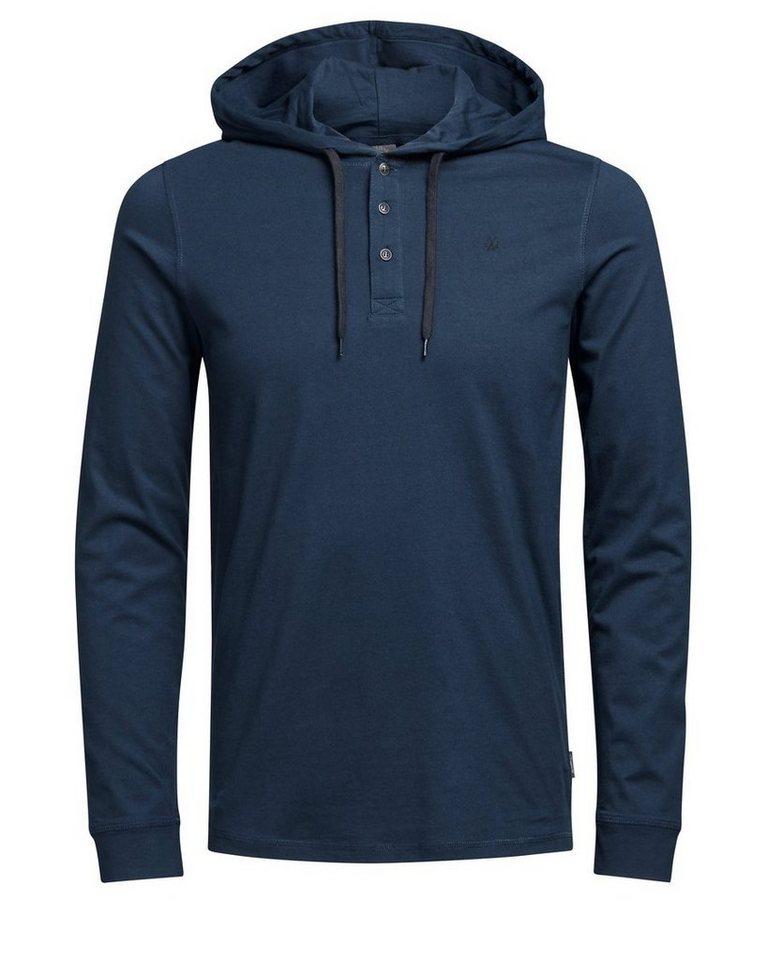 Jack & Jones Lässiges T-Shirt mit langen Ärmeln in Navy Blazer