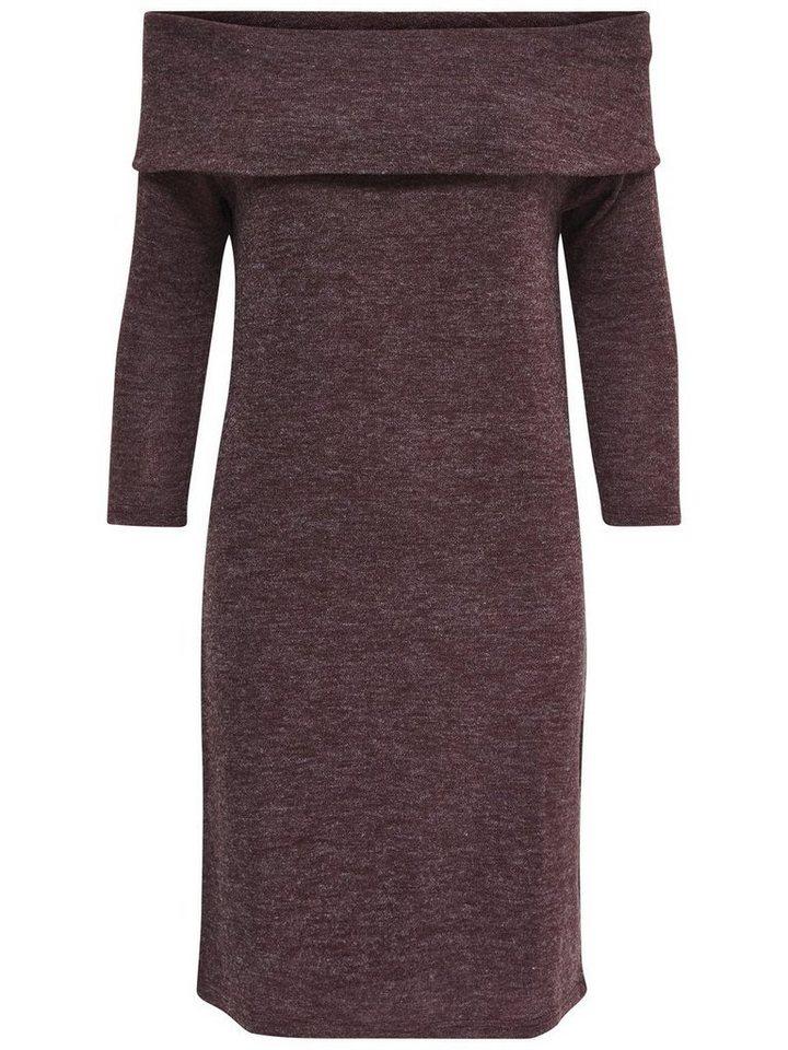 Only Einfarbiges Kleid mit langen Ärmeln in Fudge