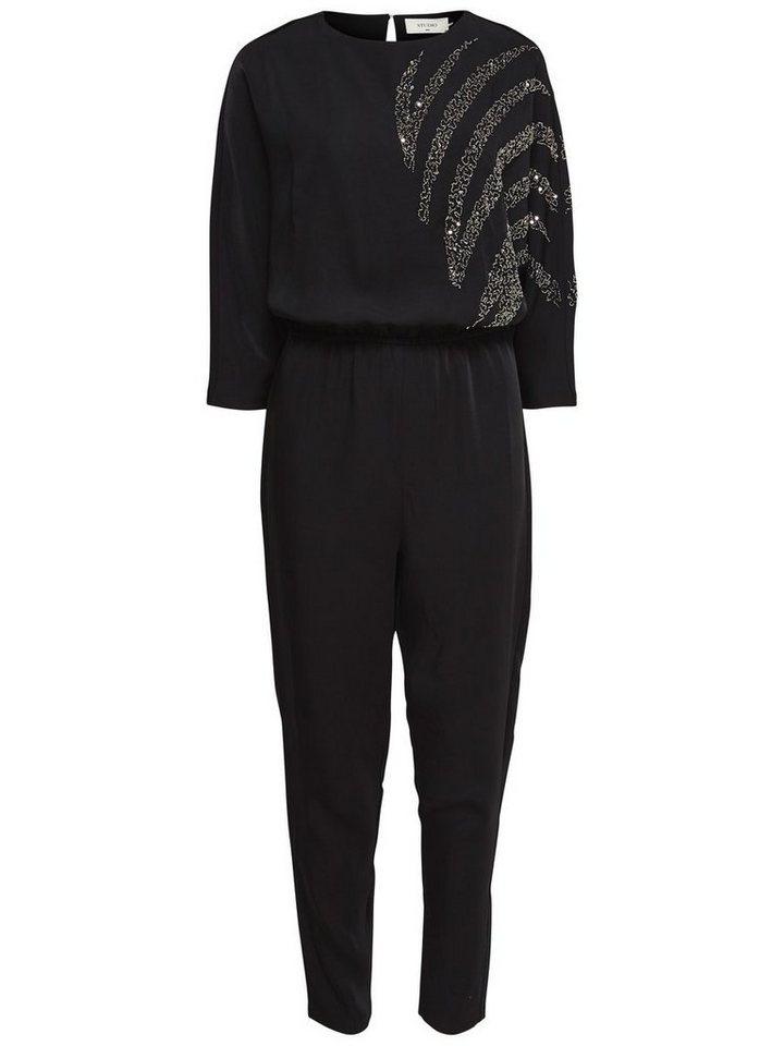 Only 7/8-ärmeliger Jumpsuit in Black