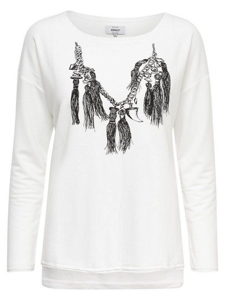 Only Detailliertes Sweatshirt in CLOUD DANCER