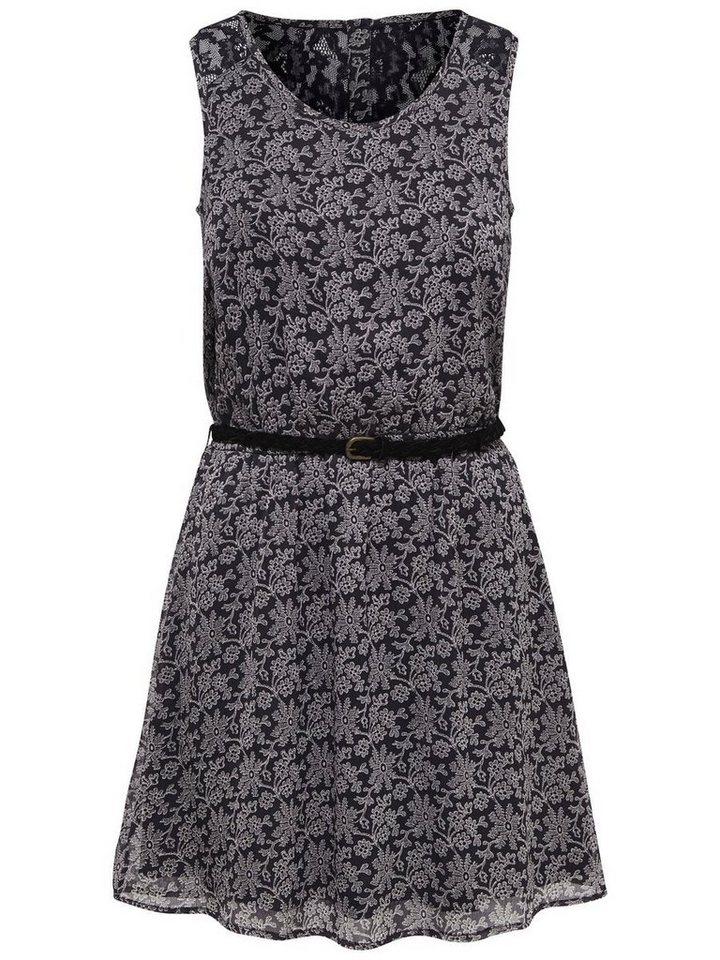Only Detailliertes Kleid ohne Ärmel in Blackened Pearl