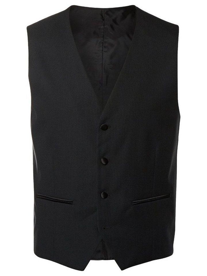 SELECTED Slim-Fit- Weste in Black