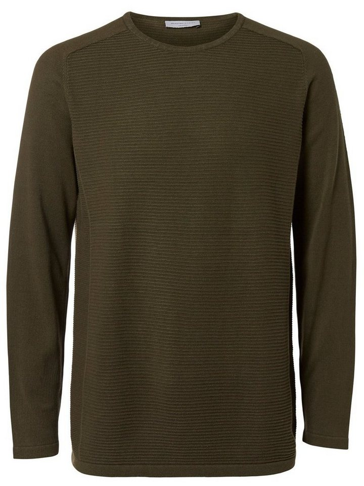 SELECTED Crew-Neck- Strickpullover in FOREST NIGHT