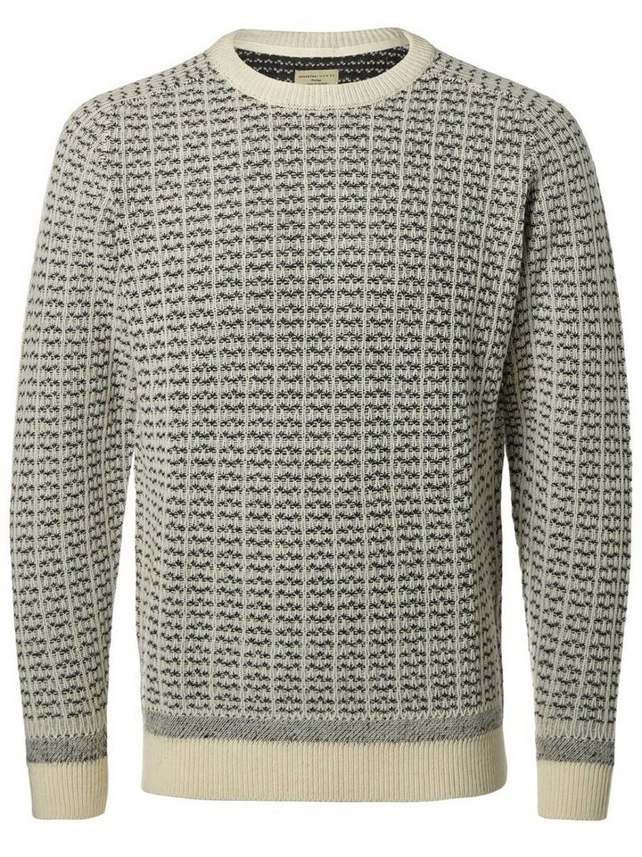 SELECTED Crew-Neck- Strickpullover in Papyrus