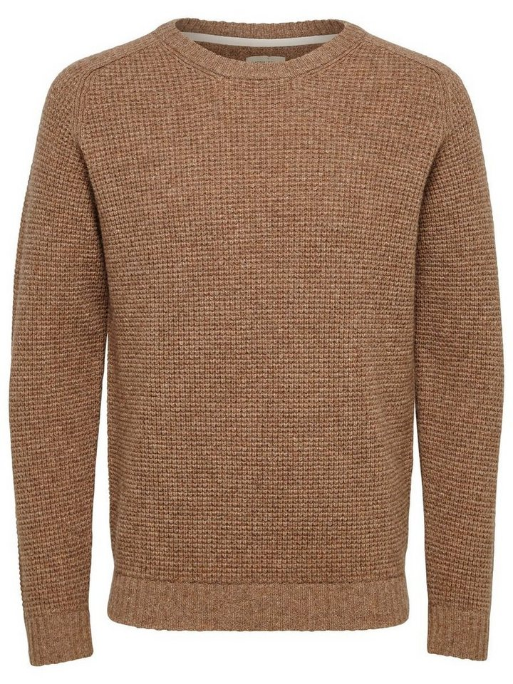SELECTED Crew Neck- Strickpullover in Otter