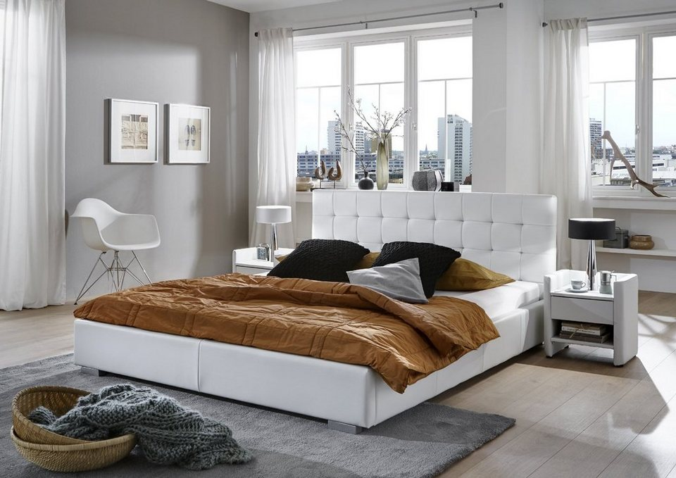 salesfever polsterbett mit gestepptem kopftel dashi online kaufen otto. Black Bedroom Furniture Sets. Home Design Ideas