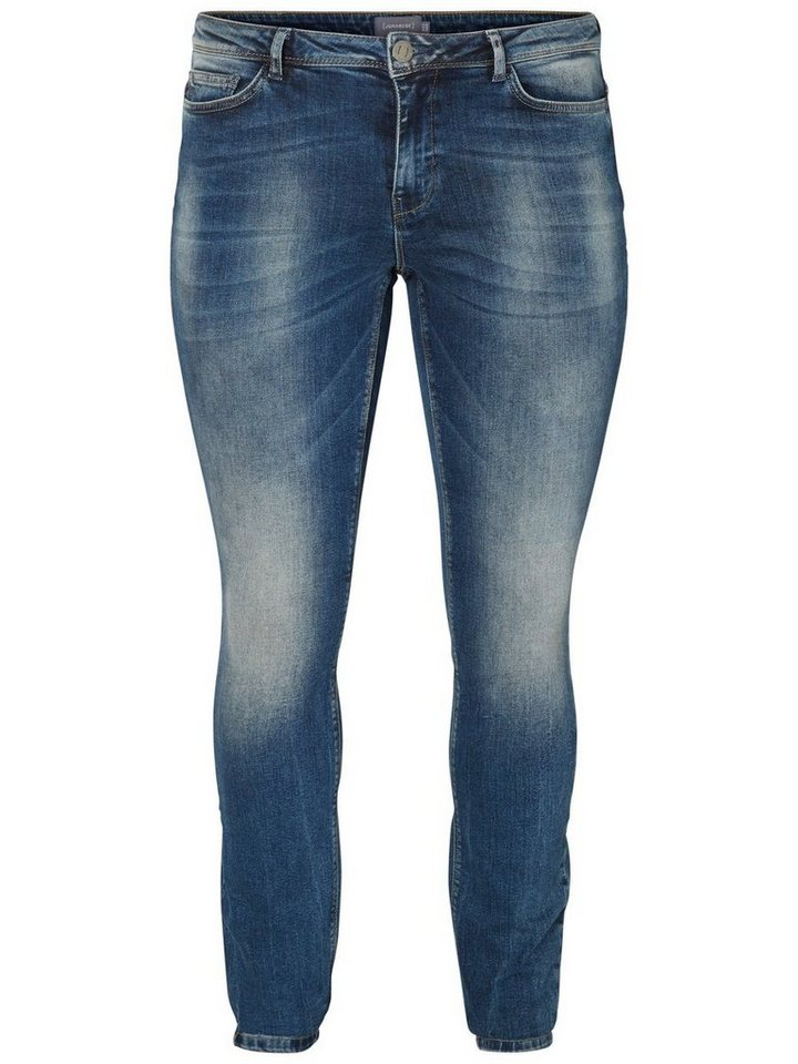 JUNAROSE FIVE Jeans in Medium Blue Denim