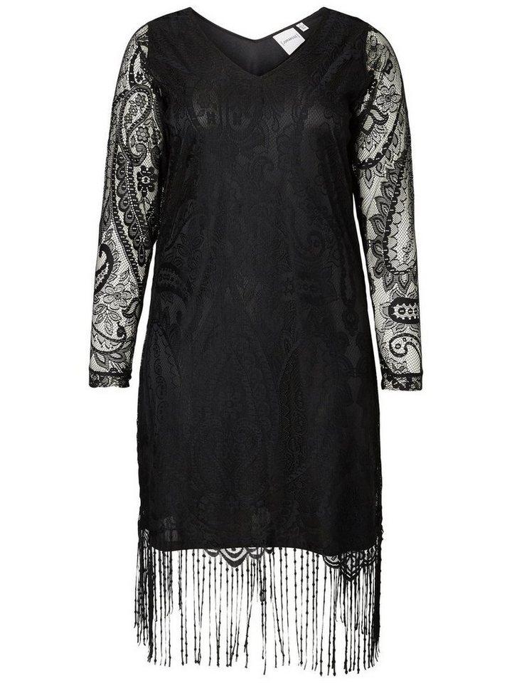 JUNAROSE Langärmeliges Kleid in Black