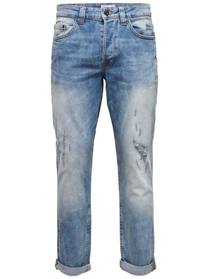 ONLY & SONS Weft med blue Regular fit Jeans in Medium Blue Denim