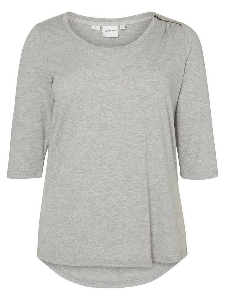JUNAROSE 3/4-ärmelige Bluse in Medium Grey Melange