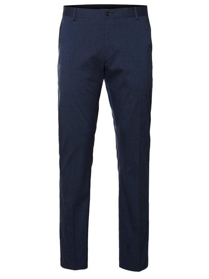 SELECTED Slim-Fit- Anzughose in Medium Blue Melange