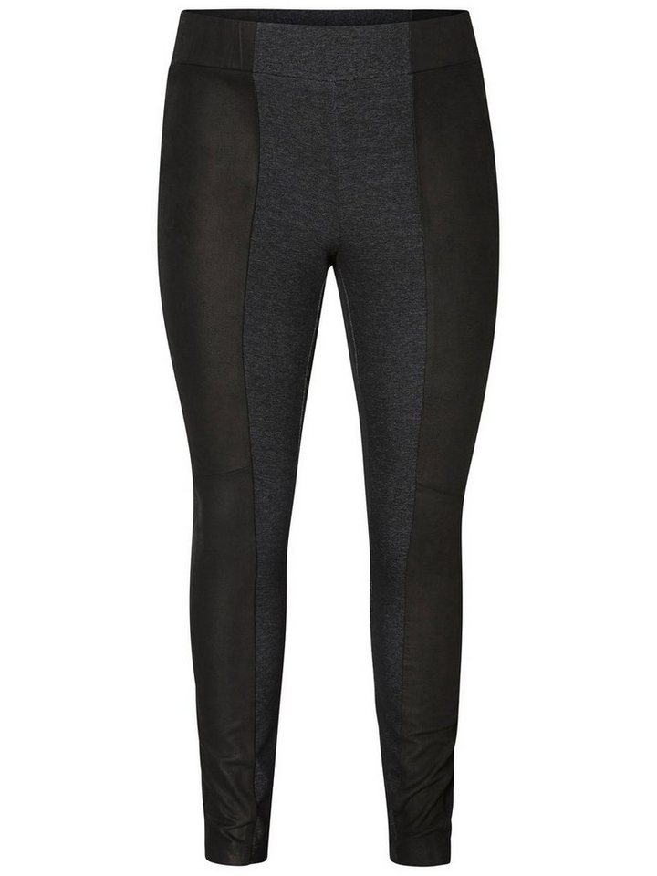 JUNAROSE Leder- Leggings in Black