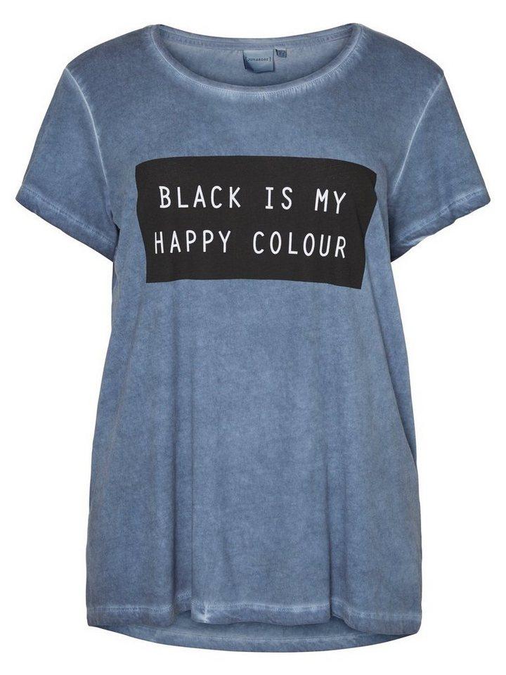 JUNAROSE Kurzärmelige Bluse in Black Iris