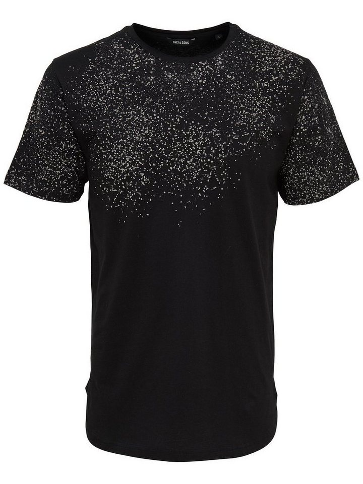 ONLY & SONS Bedrucktes T-Shirt in Black