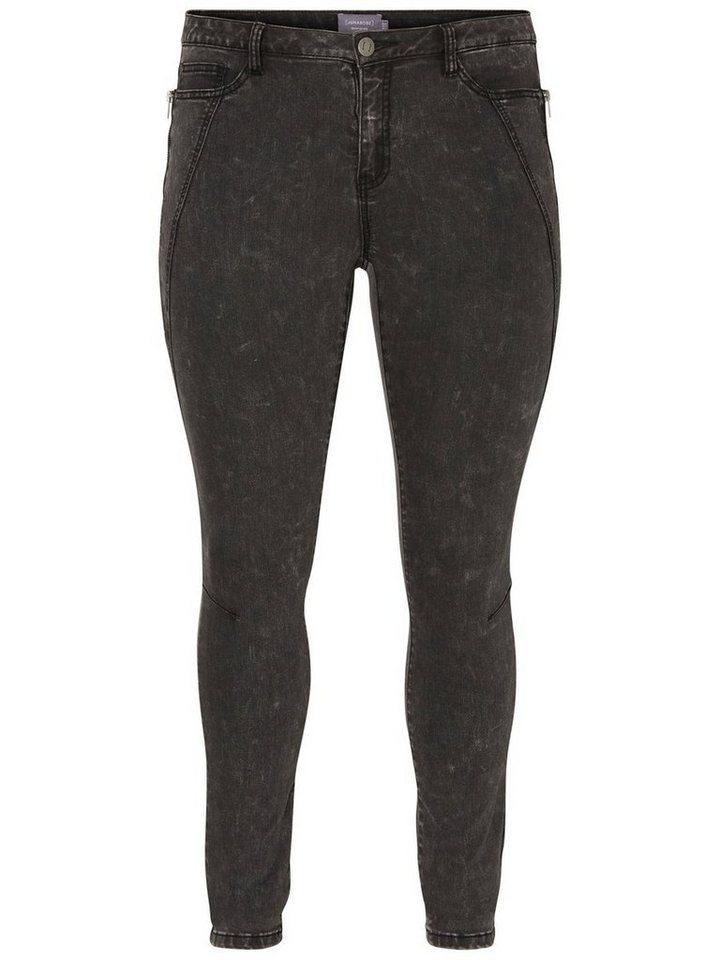 JUNAROSE FIVE Jeans in Dark Grey Denim