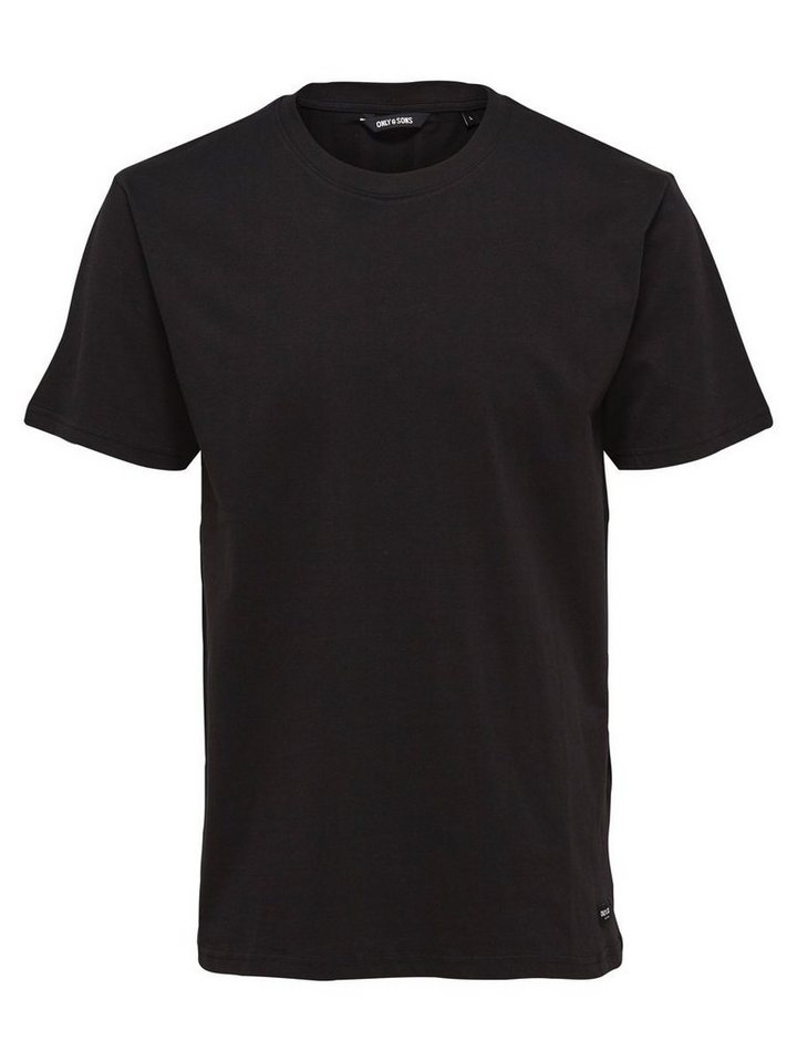 ONLY & SONS Langes T-Shirt in Black