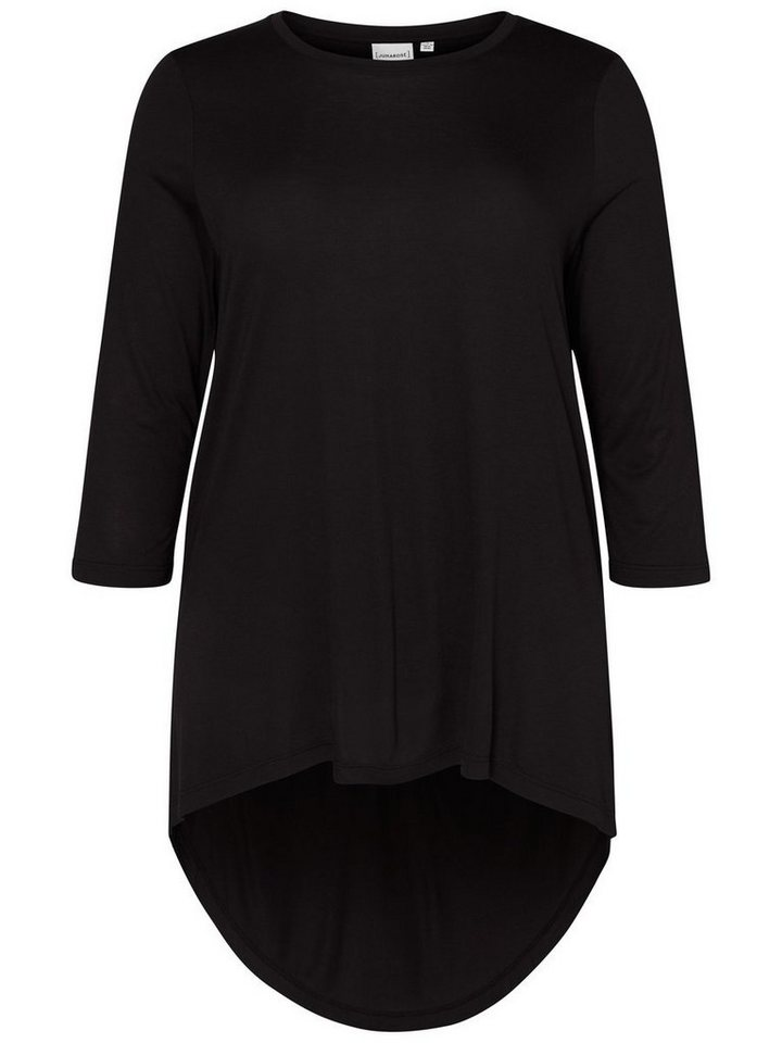 JUNAROSE High-Low Bluse in Black