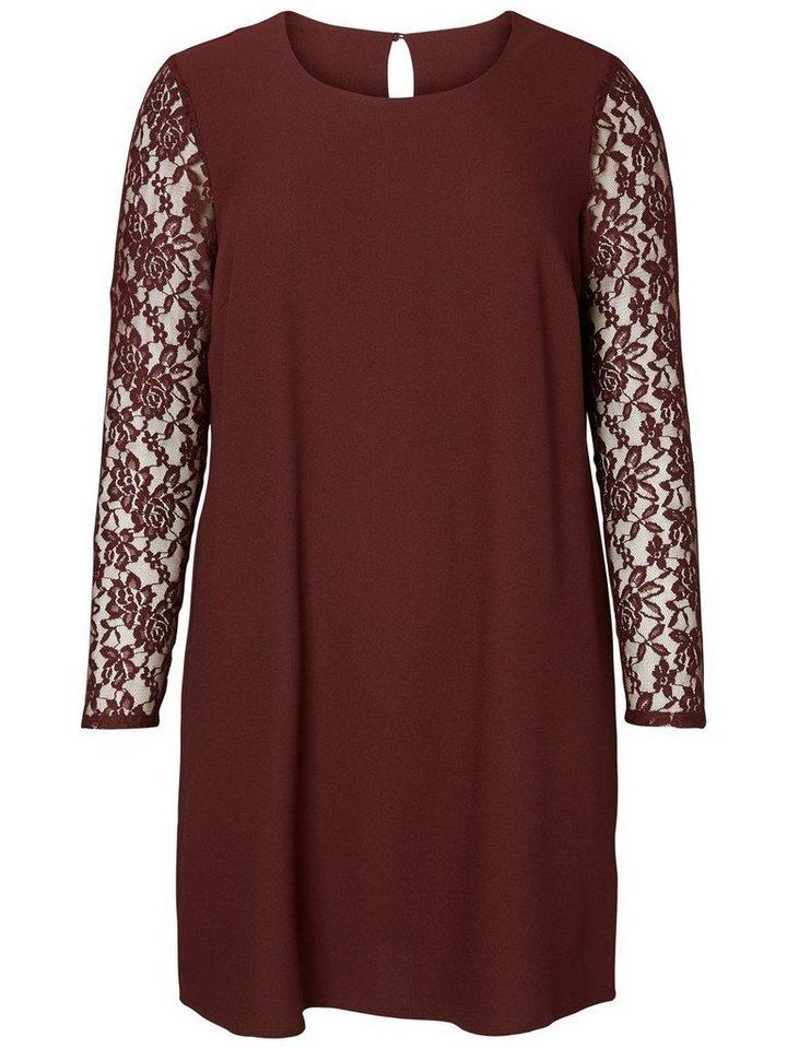 JUNAROSE Langärmeliges Kleid in Decadent Chocolate