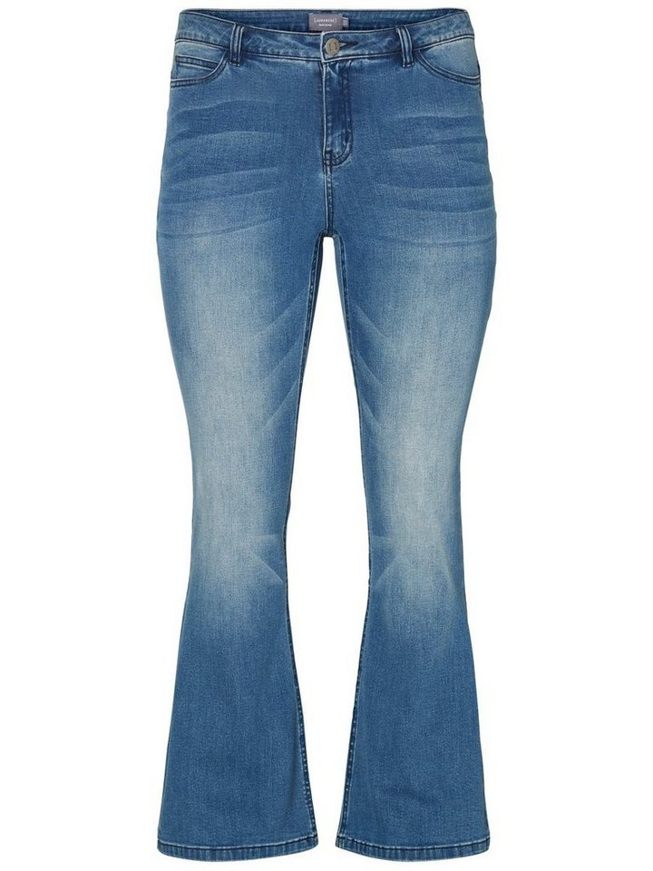 JUNAROSE JRTWIG FLARED Jeans in Medium Blue Denim