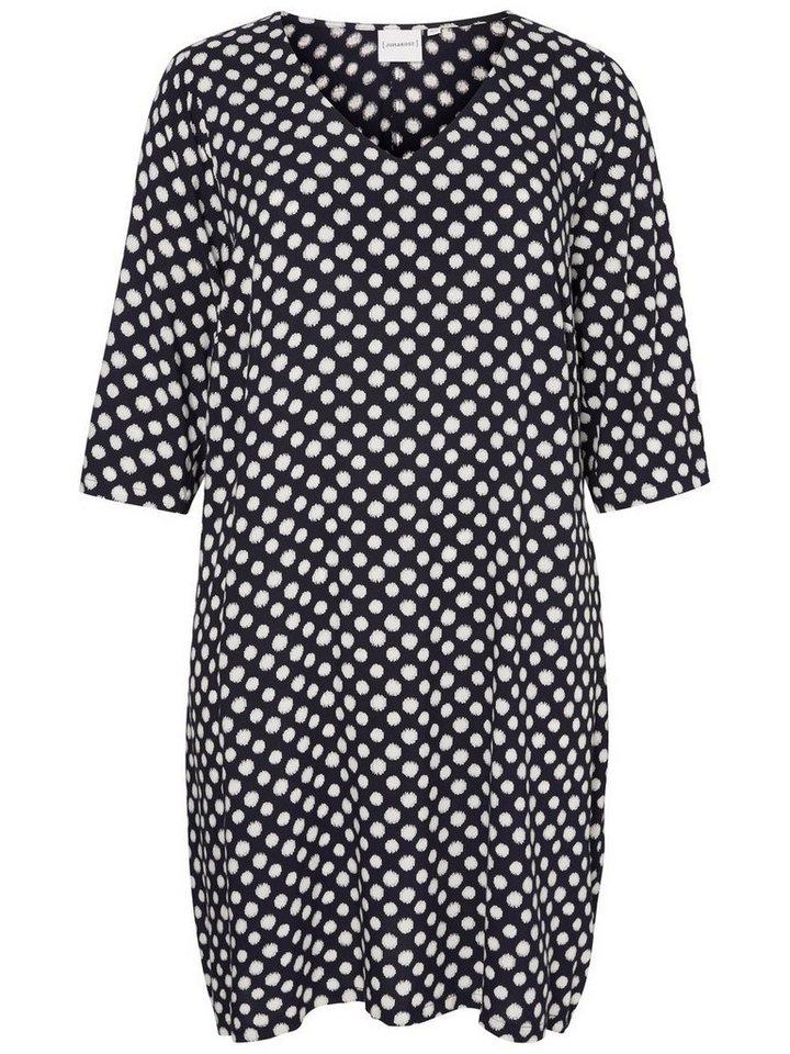 JUNAROSE 3/4-Ärmel Kleid in Black Iris