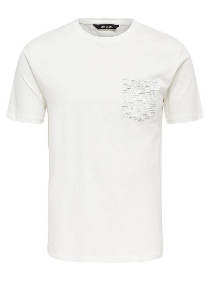 ONLY & SONS Detailliertes T-Shirt in CLOUD DANCER