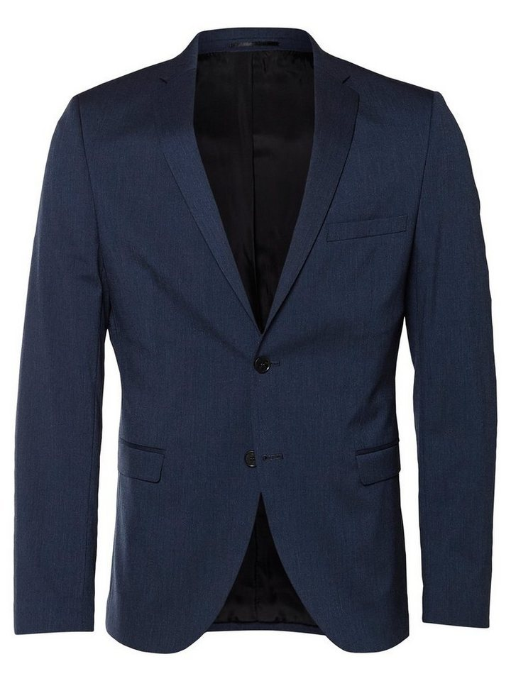 SELECTED Slim-Fit- Blazer in Medium Blue Melange