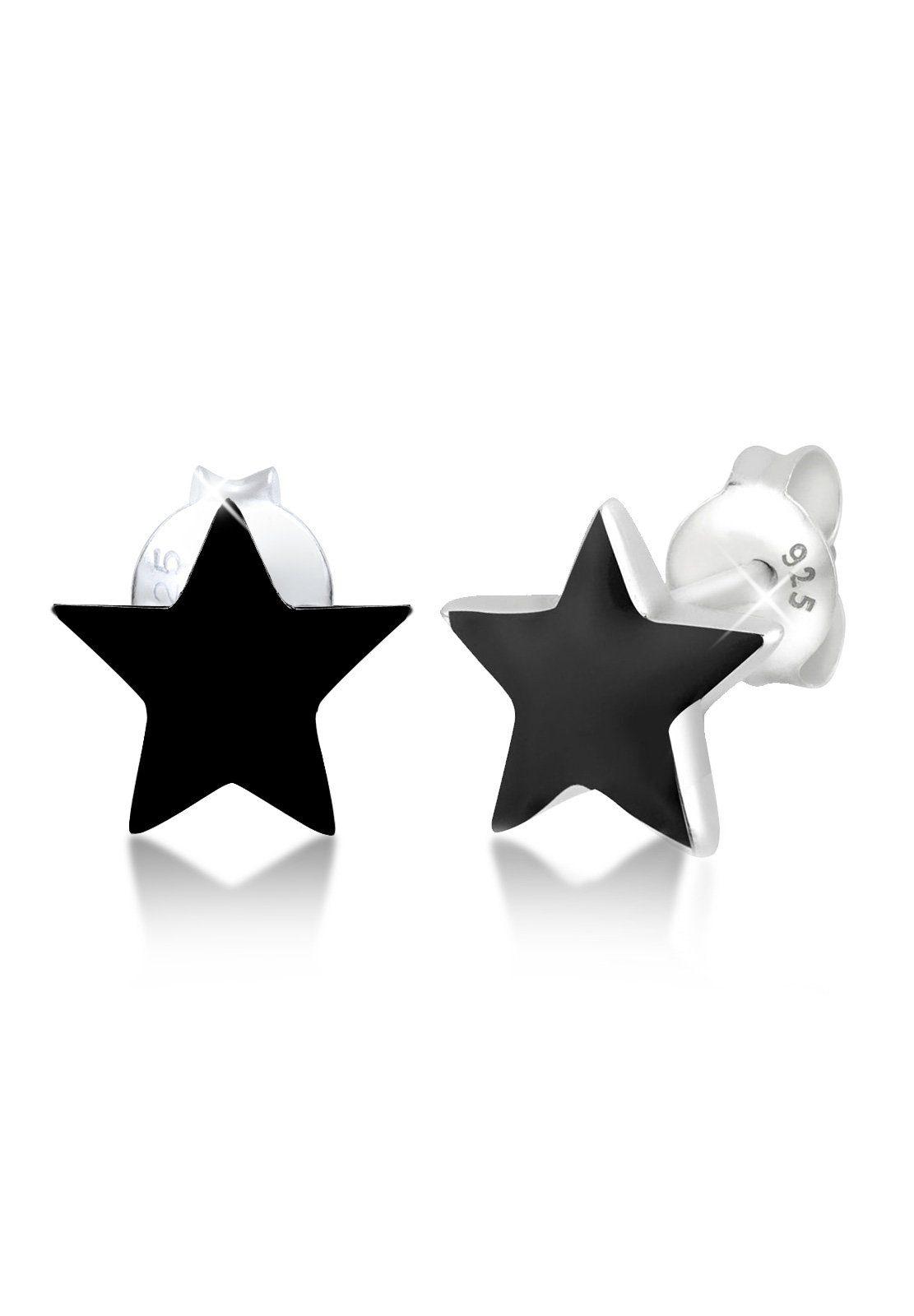 Elli Ohrringe »Stern Emaille Astro Trend Filigran Stars Silber«