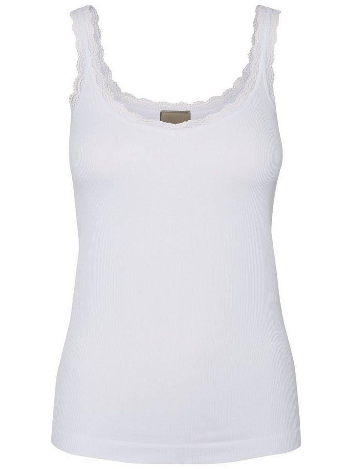 Vero Moda Spitzen- Top in Bright White