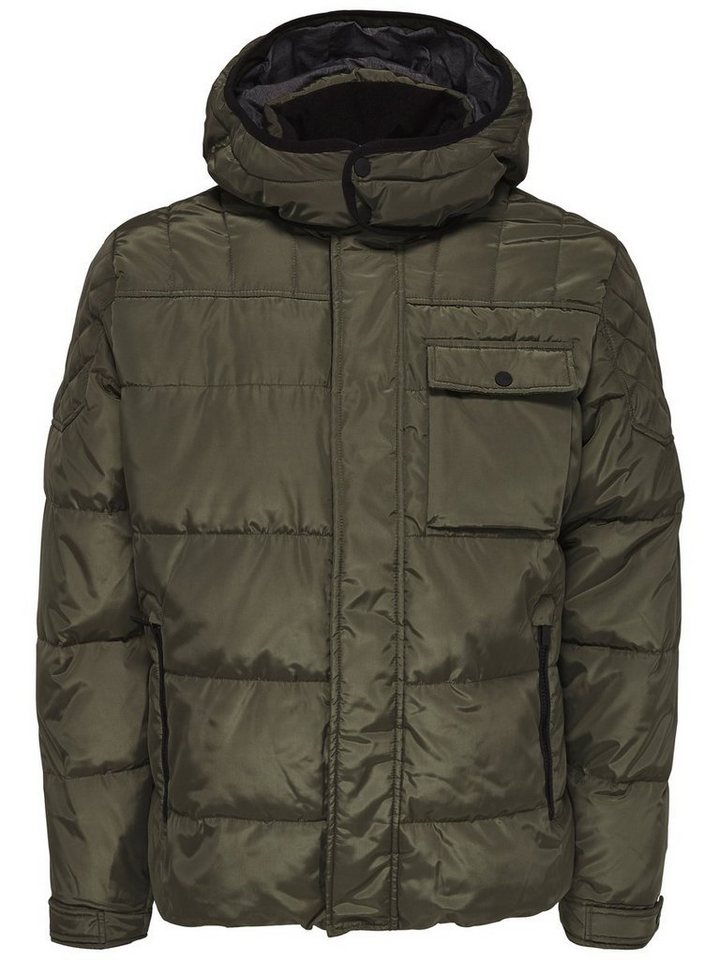 ONLY & SONS Nylon- Steppjacke in FOREST NIGHT