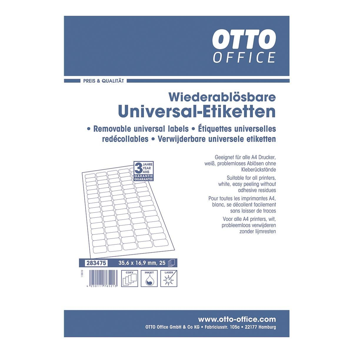 OTTOOFFICE STANDARD 2000er-Set Universal-Klebeetiketten