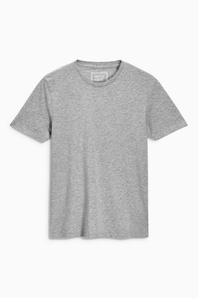 Next T-Shirt mit Rundhalsausschnitt in Mid Grey Marl