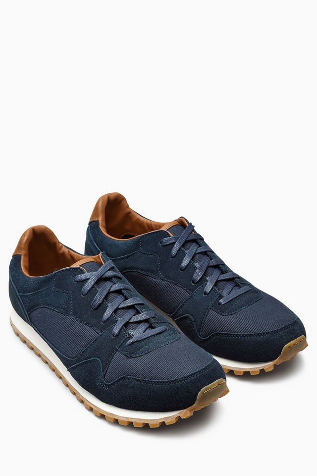 Next Sportschuh aus Velourleder-Mix in Navy