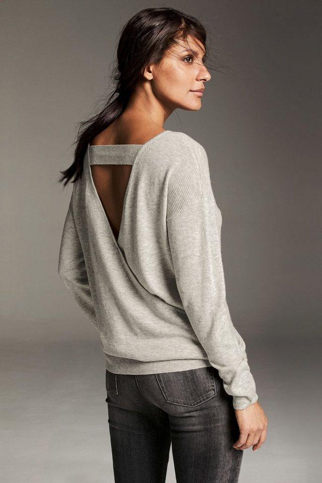 Next Luxuriöses Oberteil mit geraffter Rückseite in Grey
