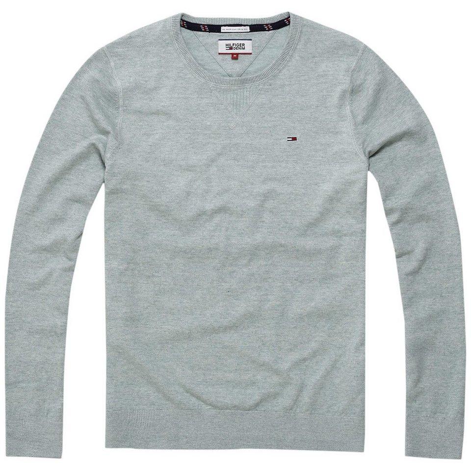 hilfiger denim pullover thdm basic cn sweater l s 38. Black Bedroom Furniture Sets. Home Design Ideas