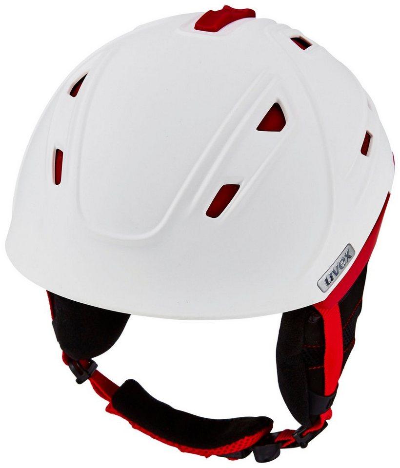 Uvex Ski - / Snowboardhelm »p2us Helmet« in weiß
