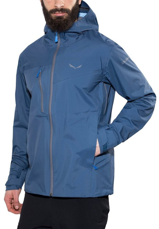 Salewa Regenjacke »Puez PTX 3L Jacket Men« in blau