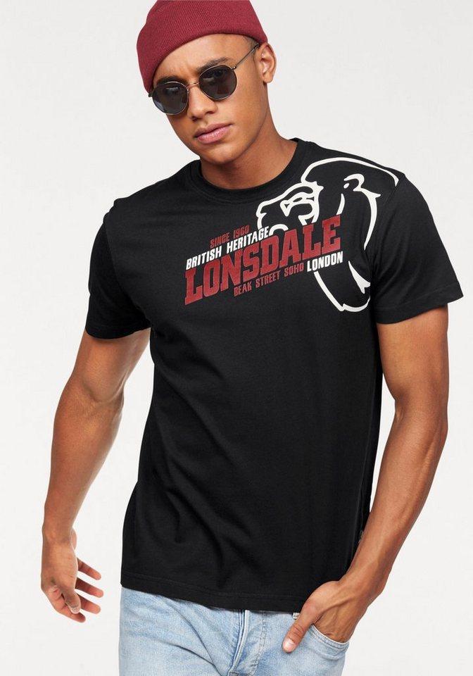 Lonsdale T-Shirt »WALKLEY« in schwarz