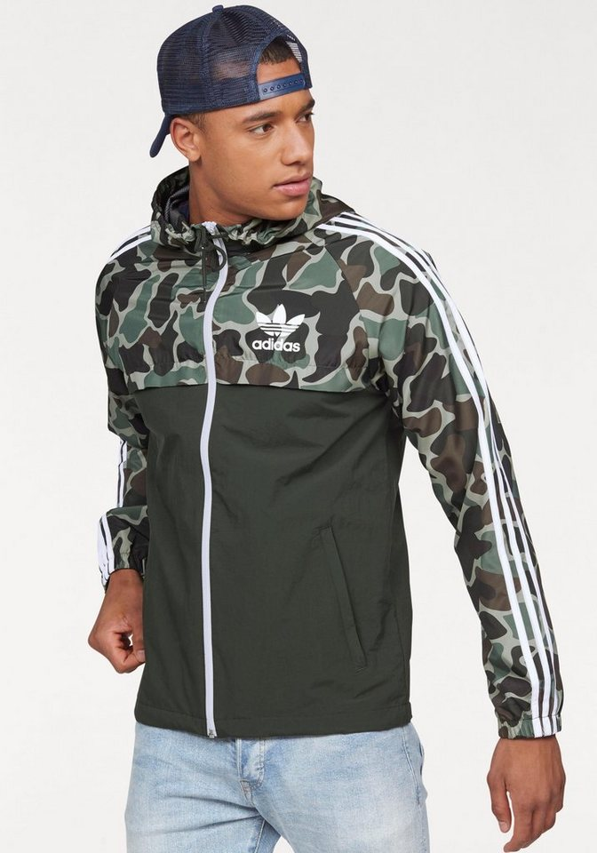 adidas originals windbreaker camo rev wb mit kapuze. Black Bedroom Furniture Sets. Home Design Ideas