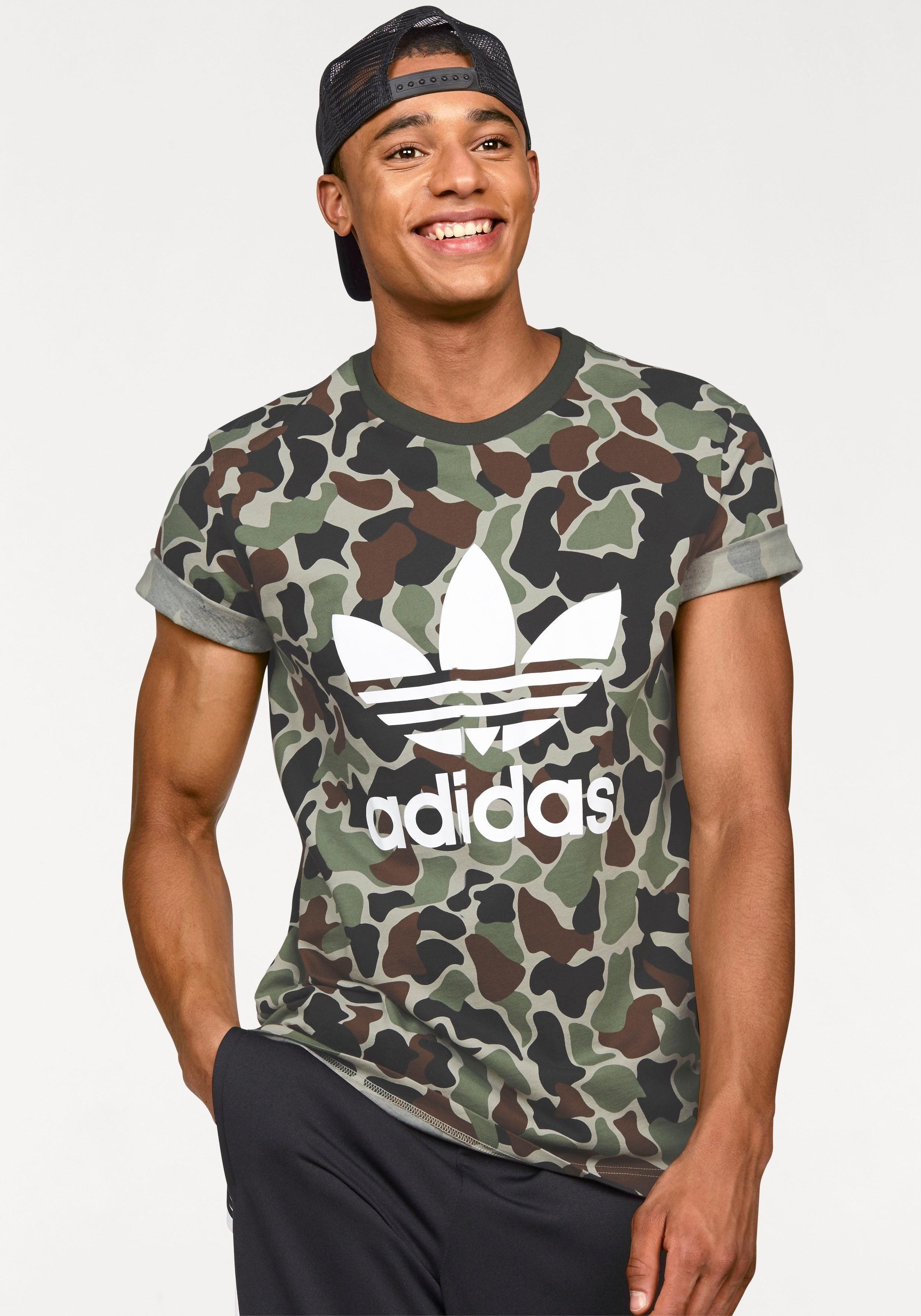 adidas camouflage t shirt damen