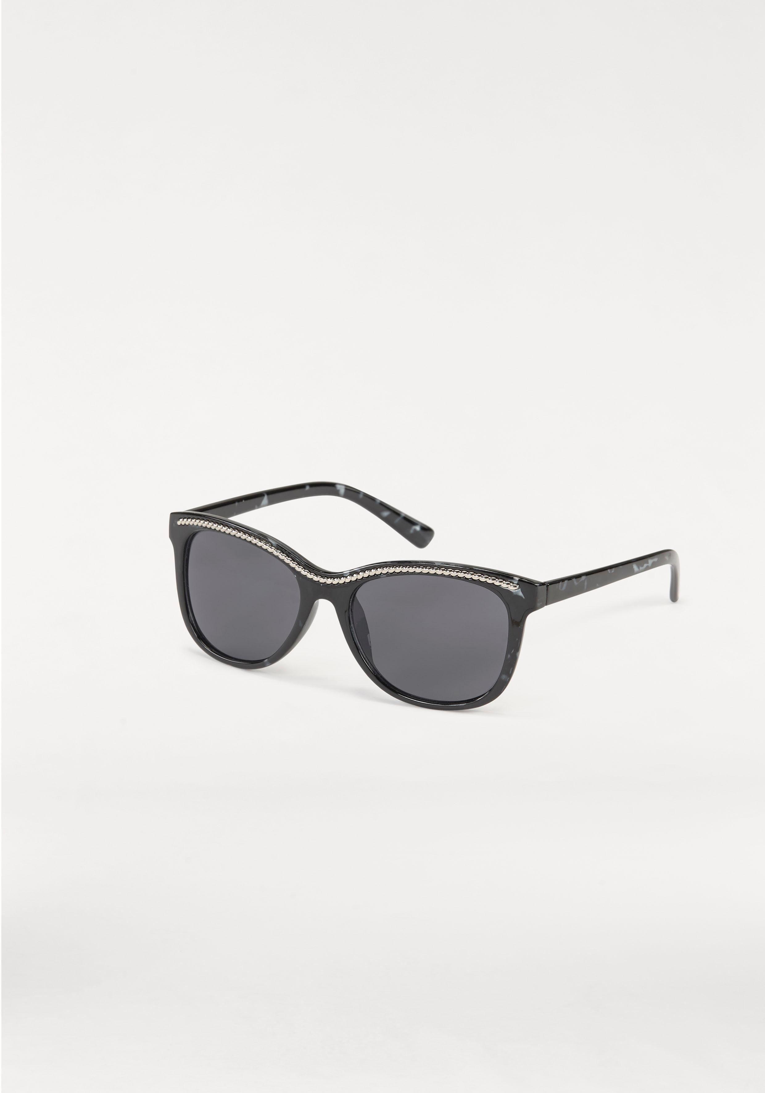 J. Jayz Sonnenbrille, mit glänzender Verzierung