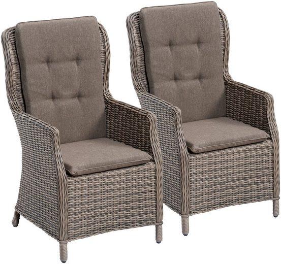 gartenstuhl riviera 2er set polyrattan inkl. Black Bedroom Furniture Sets. Home Design Ideas