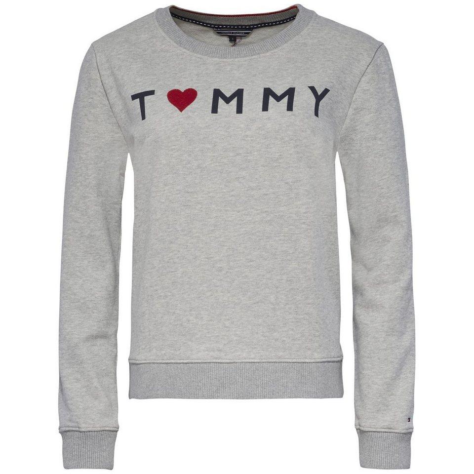 tommy hilfiger sweatshirt tommy logo heart sweatshirt ls. Black Bedroom Furniture Sets. Home Design Ideas