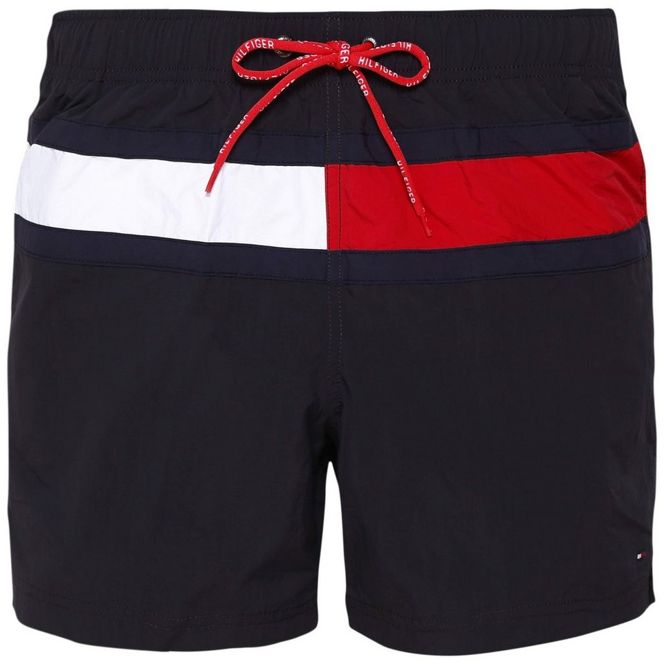 tommy hilfiger herren badehose solid swim trunk schwarz. Black Bedroom Furniture Sets. Home Design Ideas