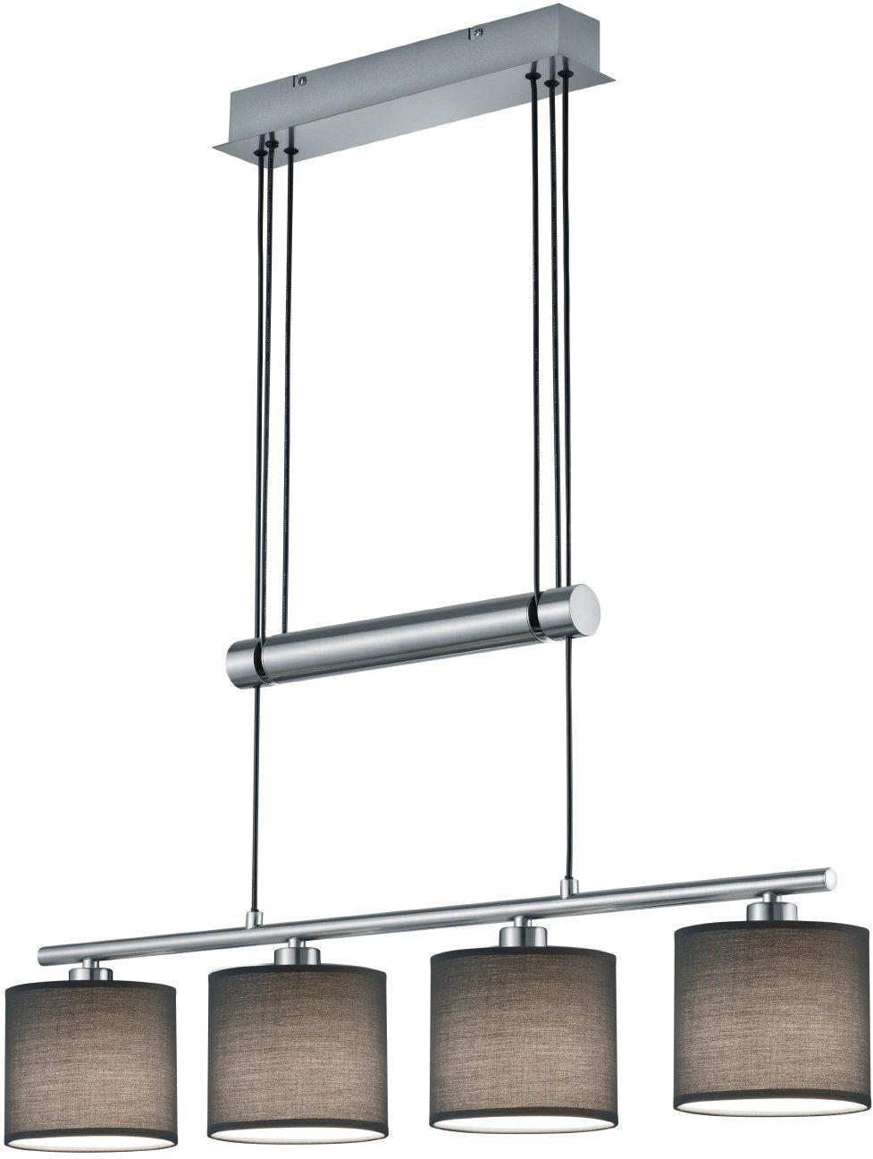 Lm Deckenlampe in chrom Optik mit drei verstellbaren Dratgeflecht Schirmen incl