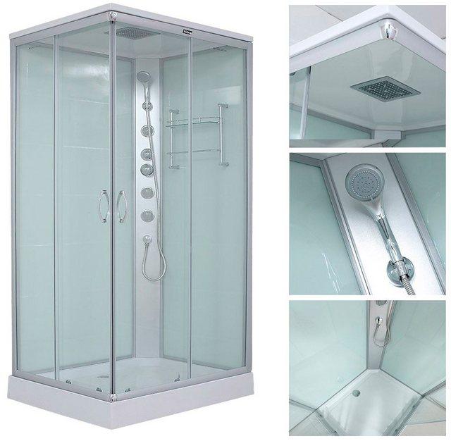 Duschen und Zubehör - HOME DELUXE Komplettdusche »Venus XL«, BxT 120x80 cm, Sicherheitsglas, 1 tlg., mit Massage Funktion und Soft Close  - Onlineshop OTTO